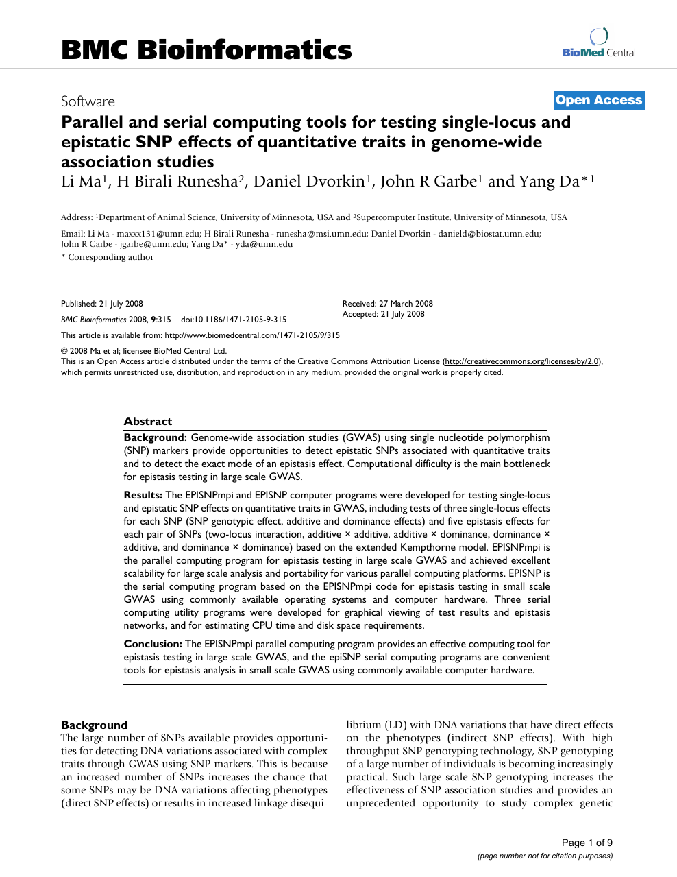 Parallel and serial computing tools for testing single-locus
