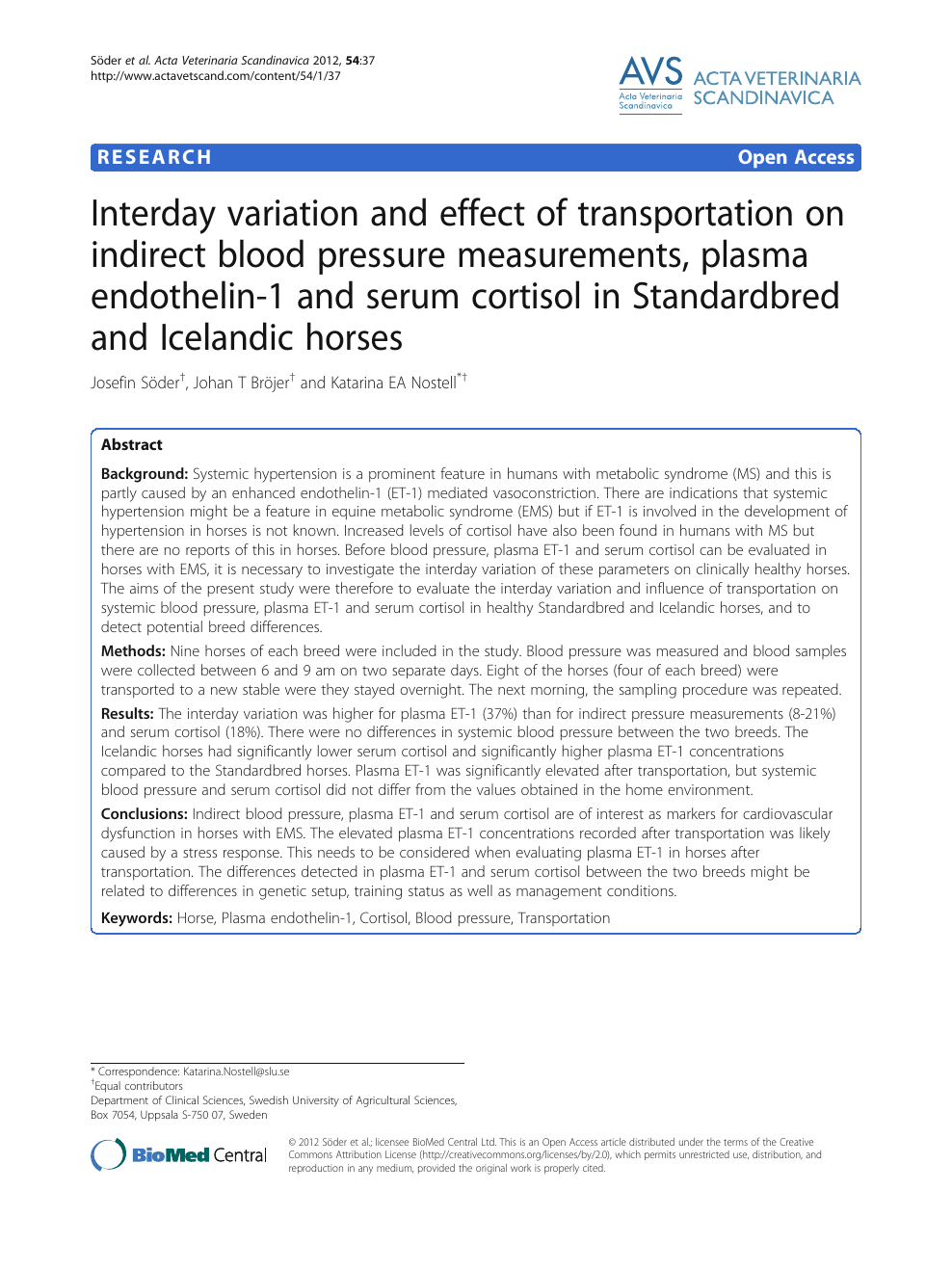 Interday variation and effect of transportation on indirect
