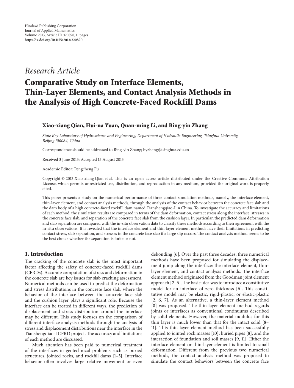 Comparative Study on Interface Elements, Thin-Layer Elements