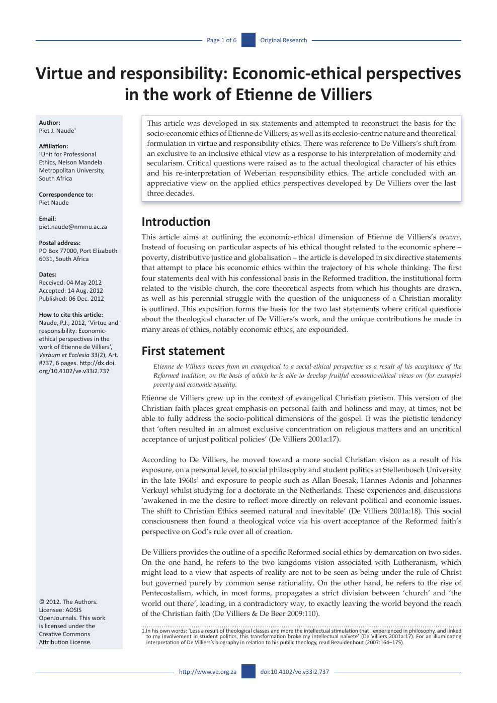 where should ethics be put in a research paper