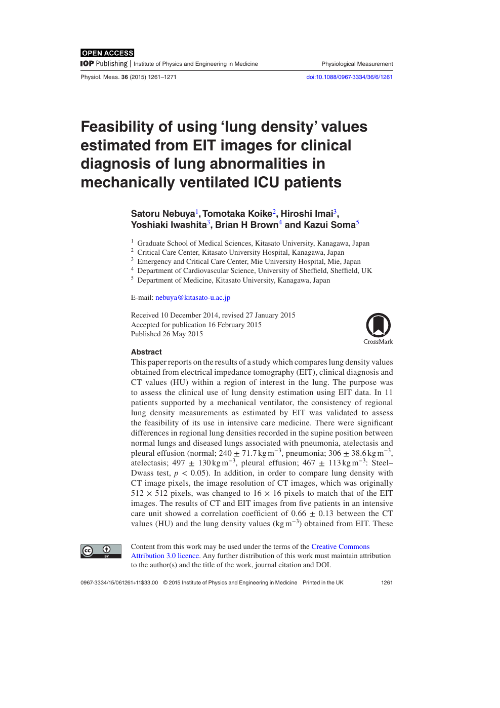 Feasibility of using 'lung density' values estimated from