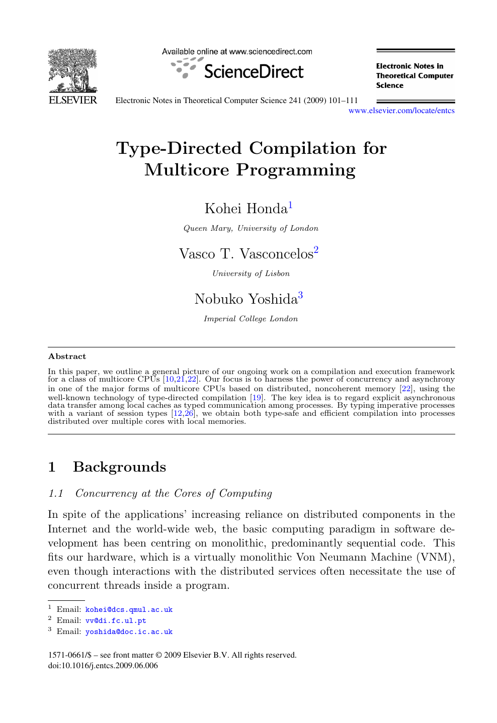 Type-Directed Compilation for Multicore Programming – topic