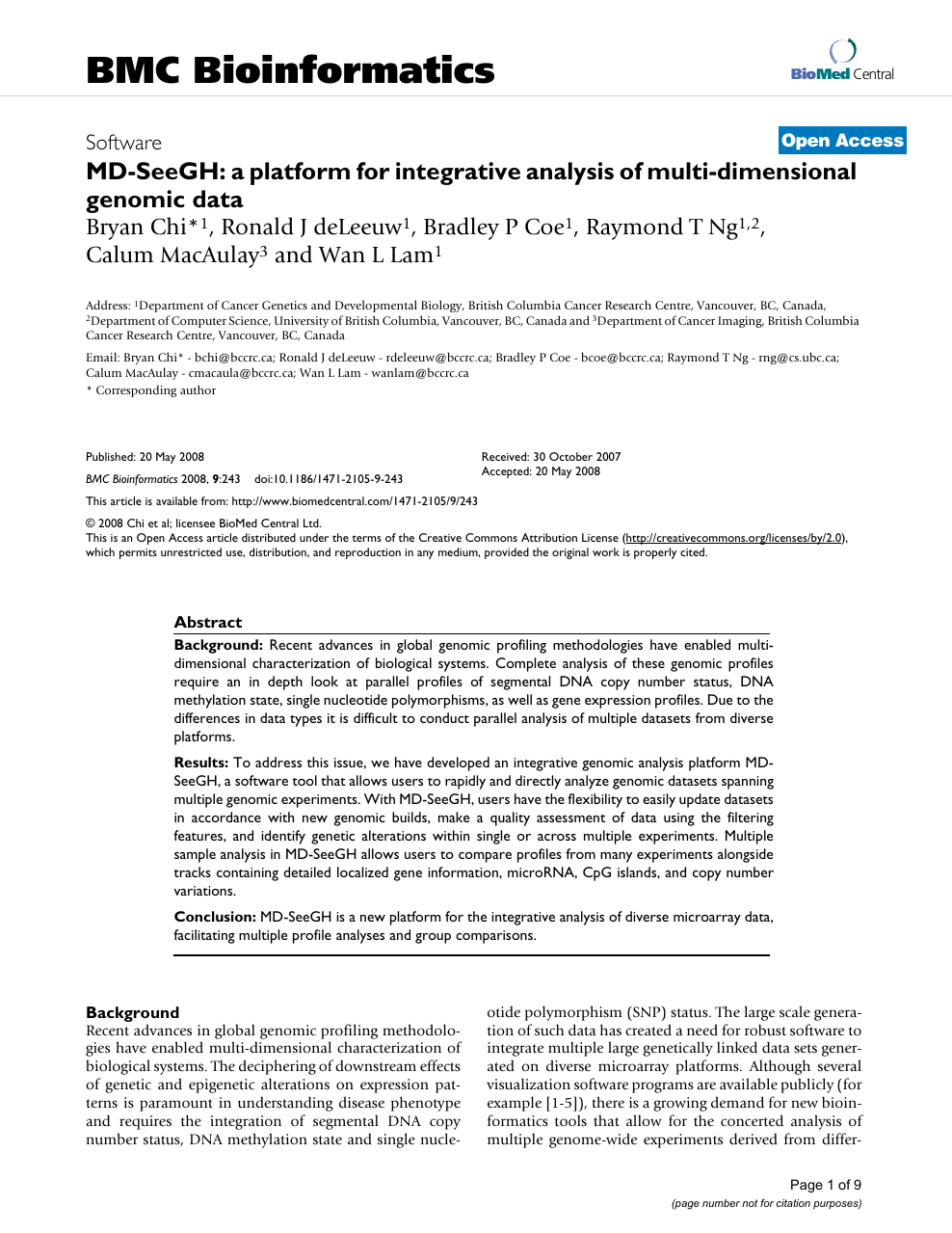 MD-SeeGH: a platform for integrative analysis of multi-dimensional