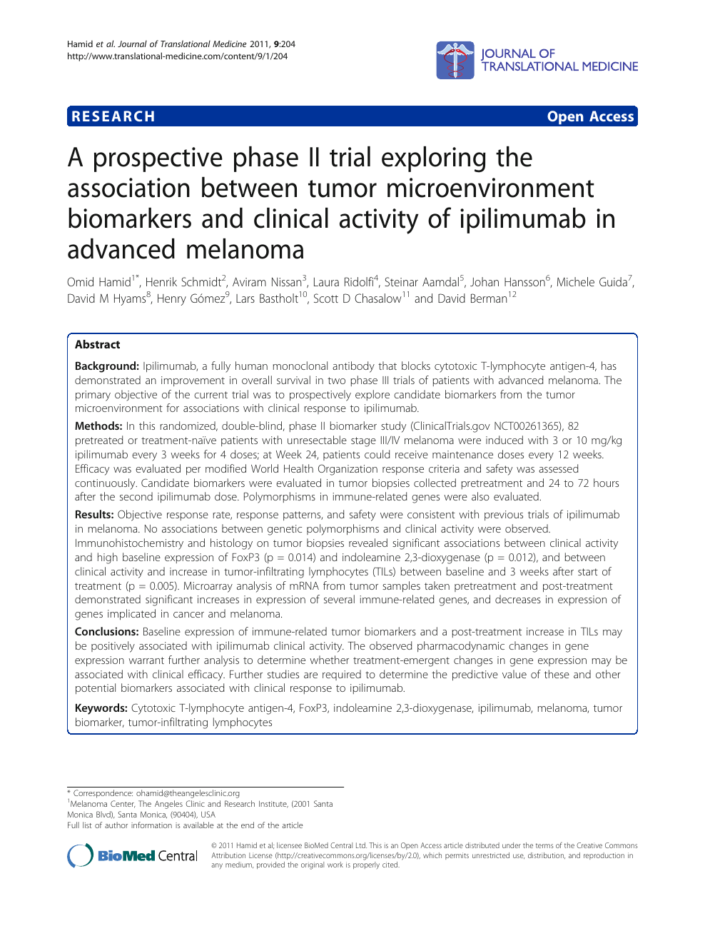 A prospective phase II trial exploring the association
