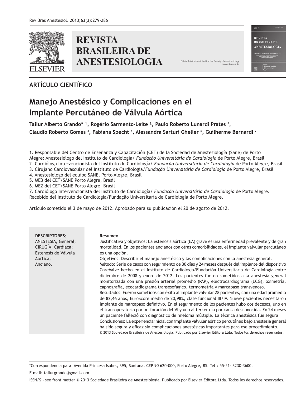 Complicaciones de la valvuloplastia con balón de la hipertensión