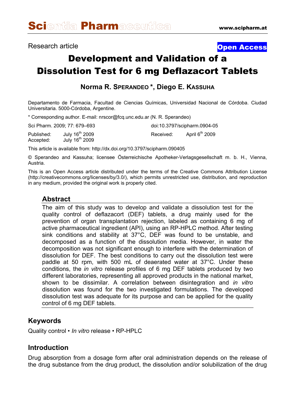Development and Validation of a Dissolution Test for 6 mg