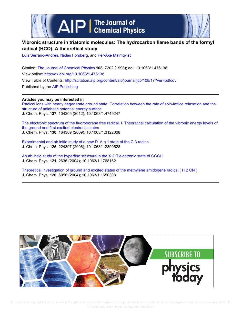 Advances in Chemical Physics: Ab Initio Methods in Quantum Chemistry Part 2, Volume 69