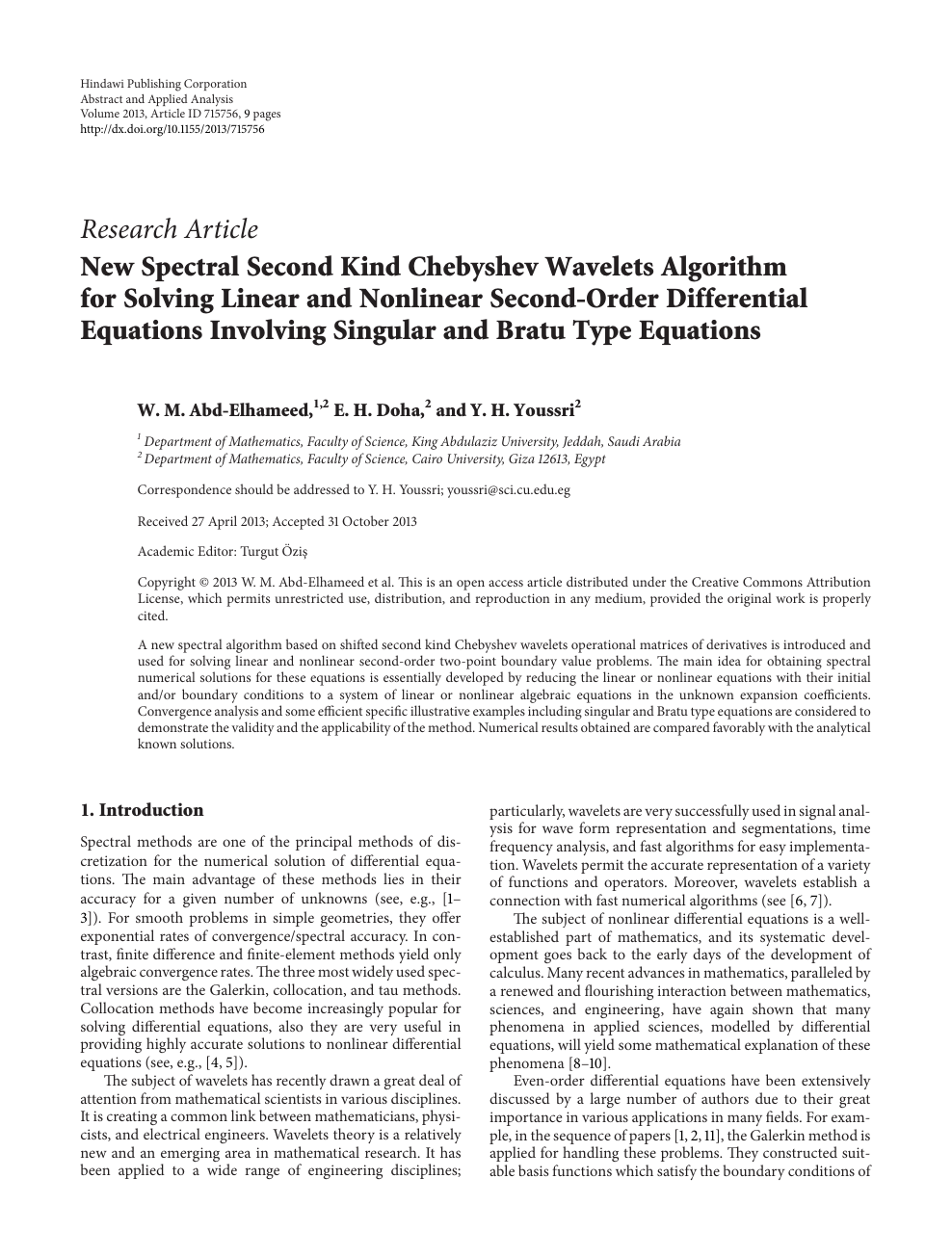 New Spectral Second Kind Chebyshev Wavelets Algorithm For Solving