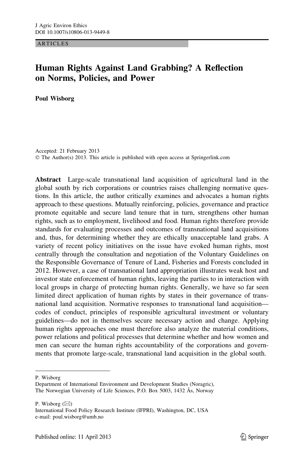 Human Rights Against Land Grabbing? A Reflection on Norms, Policies, and  Power – topic of research paper in Law. Download scholarly article PDF and  read for free on CyberLeninka open science hub.