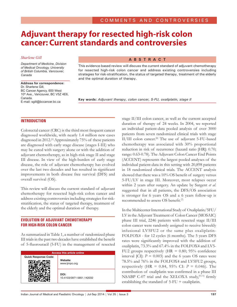 Adjuvant Therapy For Resected High Risk Colon Cancer Current Standards And Controversies Topic Of Research Paper In Clinical Medicine Download Scholarly Article Pdf And Read For Free On Cyberleninka Open Science Hub