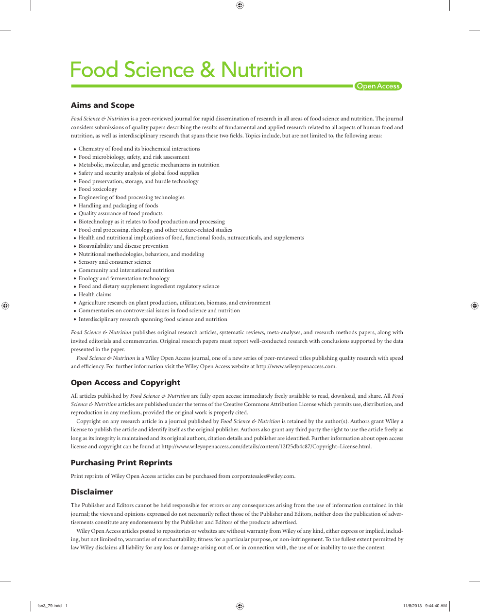 Nutrition Related Topics Research Paper