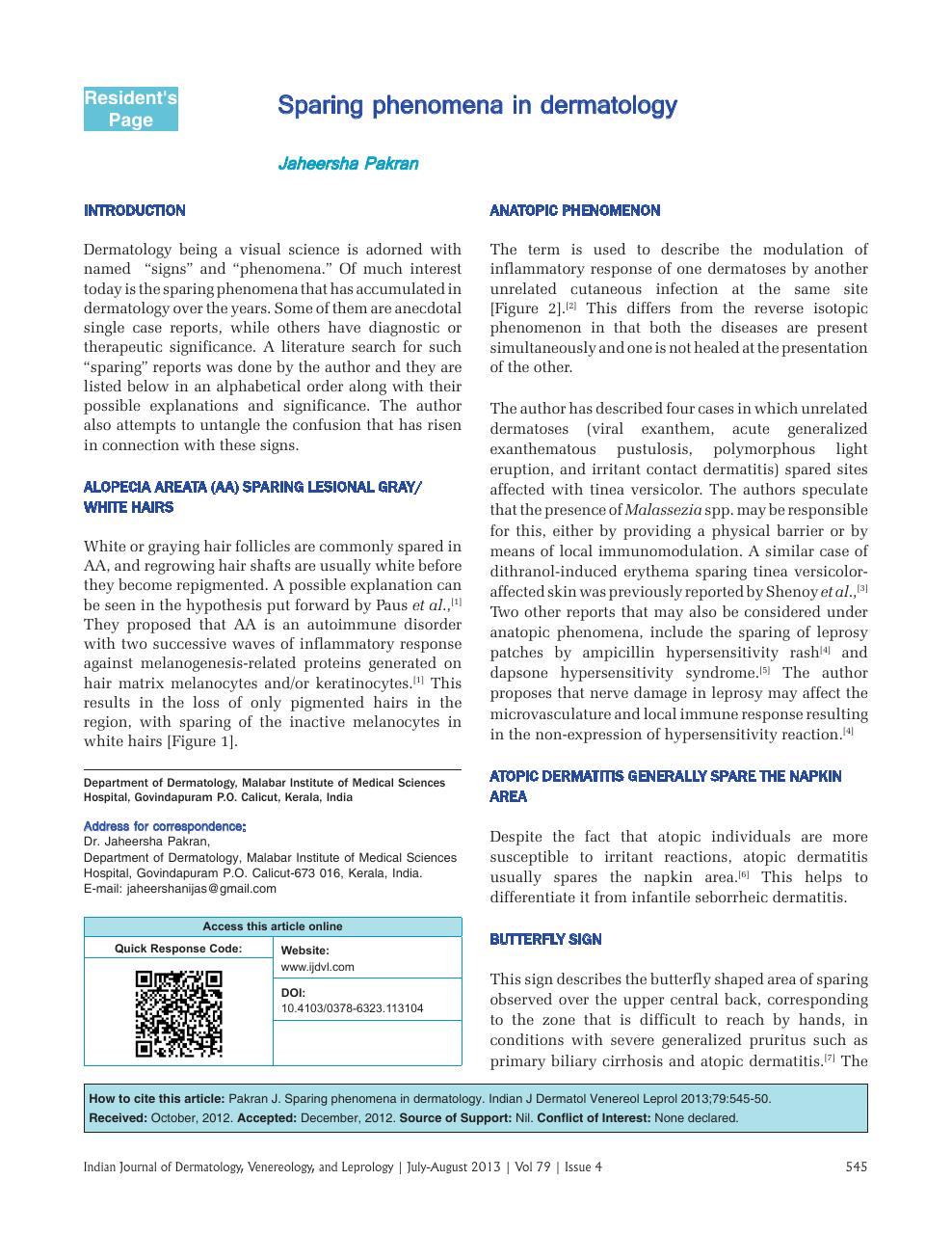 dermatology open access journals