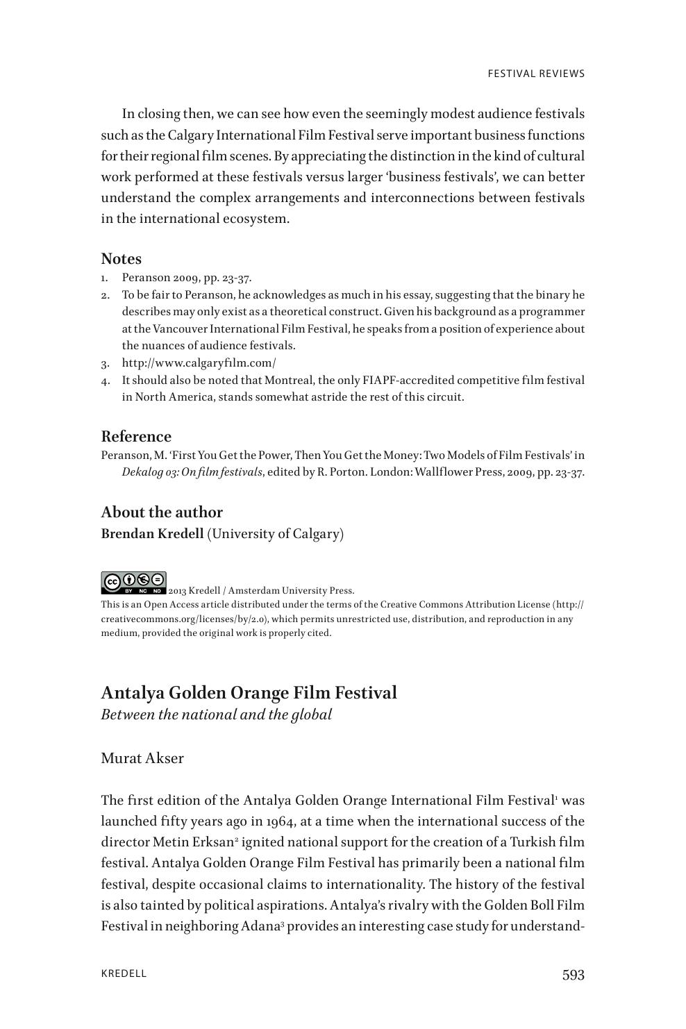 Antalya Golden Orange Film Festival: Between the national