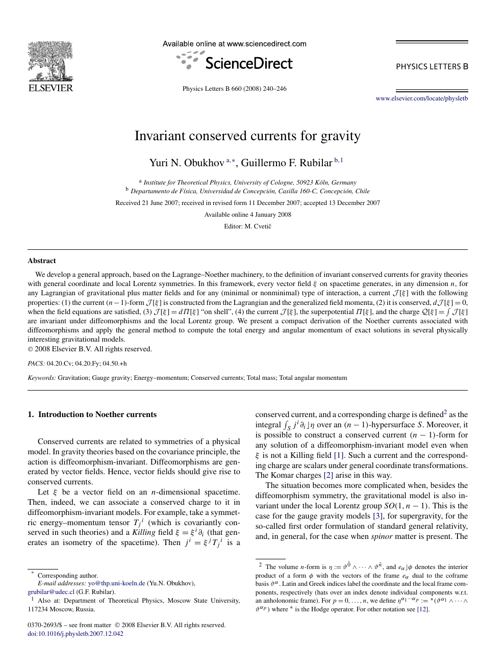 Invariant conserved currents for gravity – topic of research