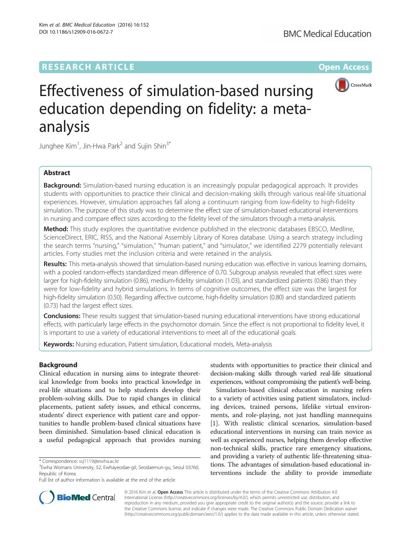 Effectiveness of simulation-based nursing education
