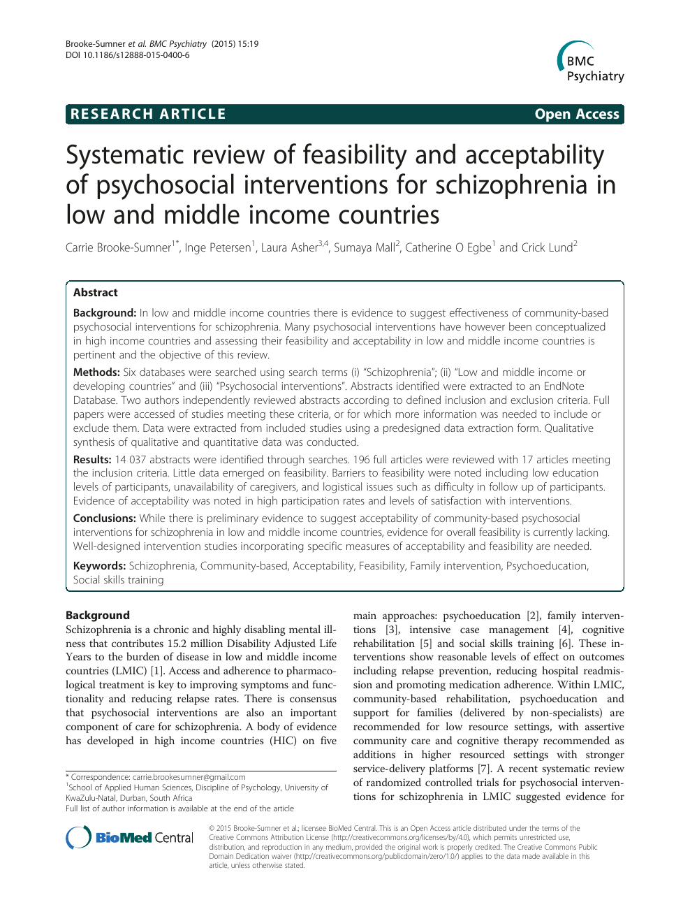 Systematic Review Of Feasibility And Acceptability Of