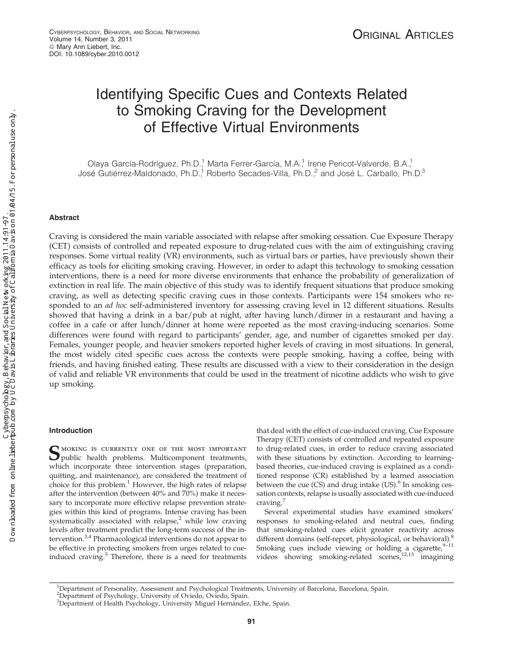 Identifying Specific Cues and Contexts Related to Smoking