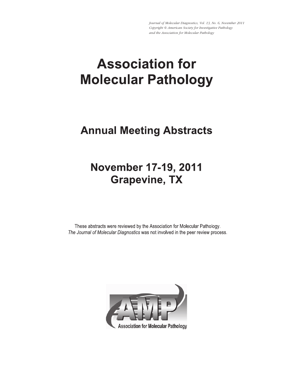 Annual Meeting Abstracts – topic of research paper in