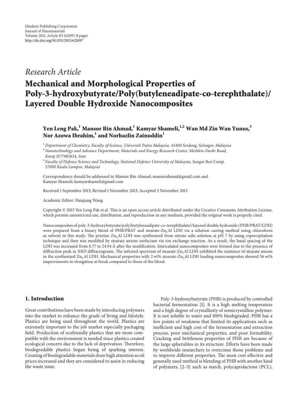 Mechanical and Morphological Properties of Poly-3-hydroxybutyrate