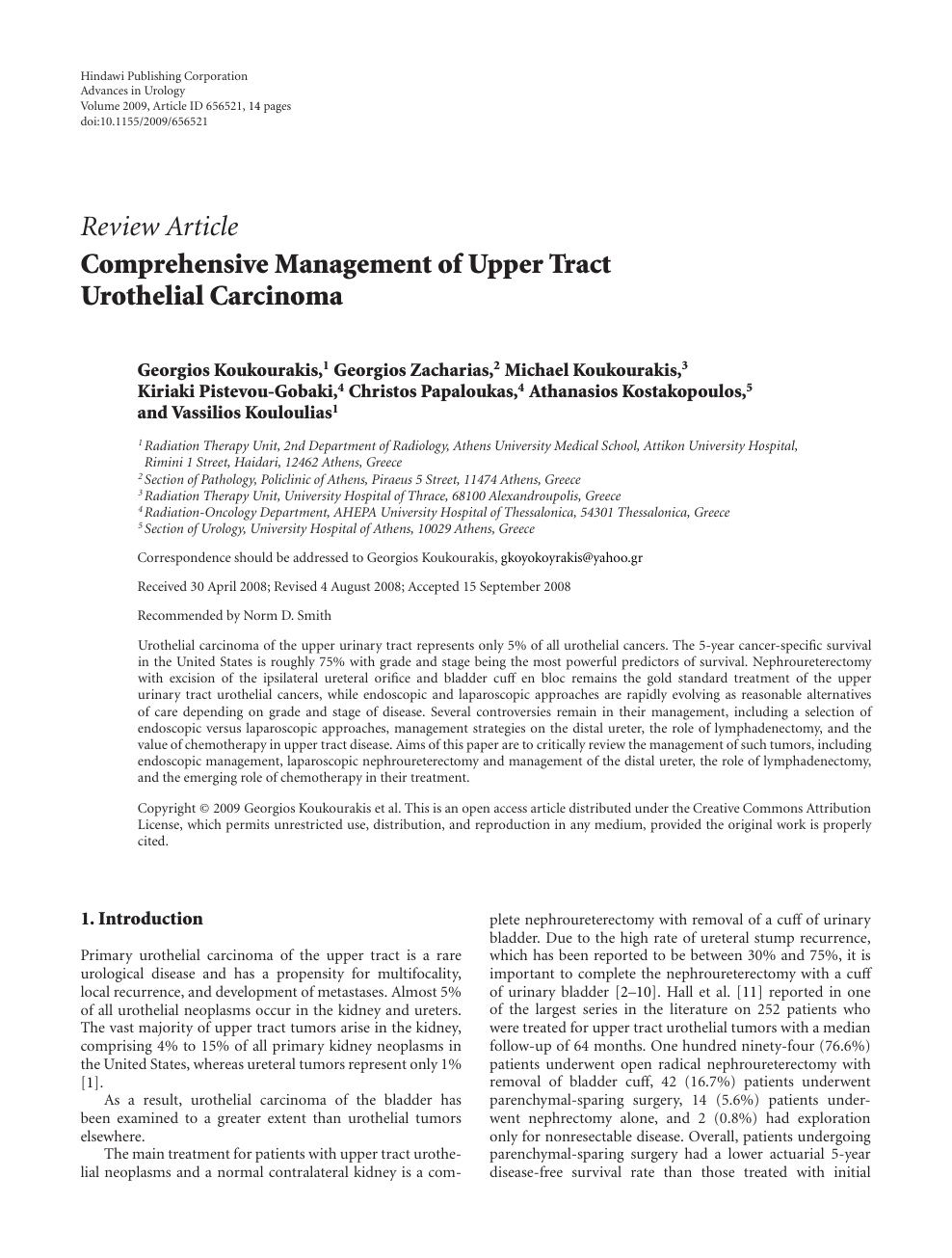 Comprehensive Management of Upper Tract Urothelial Carcinoma – topic