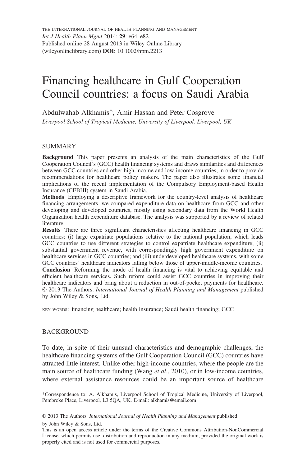 Financing healthcare in Gulf Cooperation Council countries