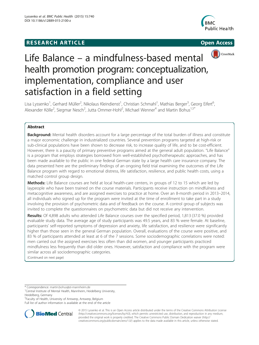 research paper on mindfulness