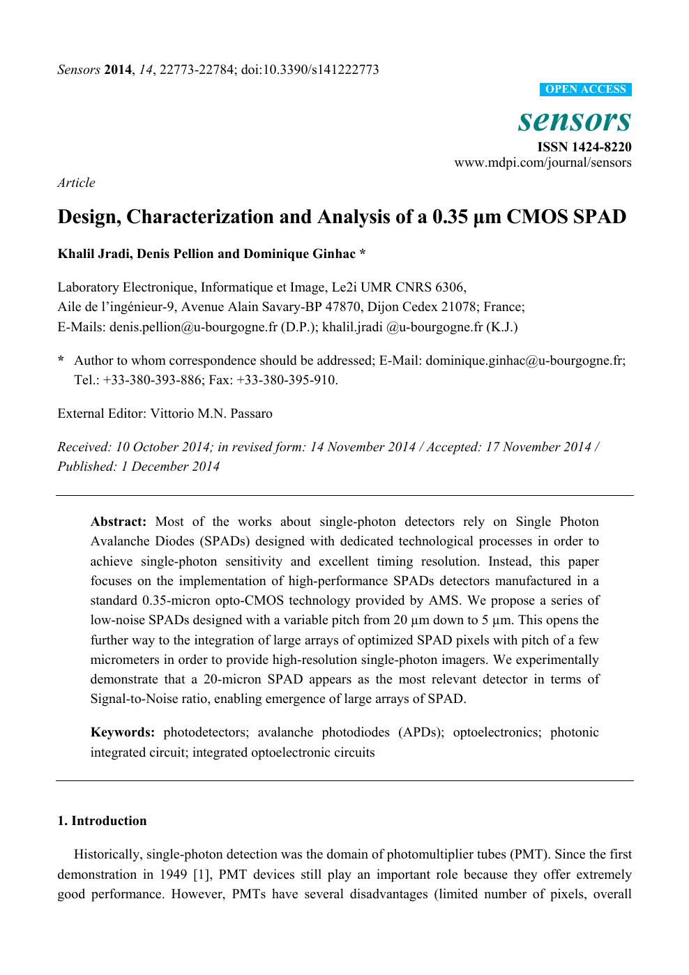 First Circuit Good Academic Performance >> Design Characterization And Analysis Of A 0 35 Mm Cmos Spad Topic