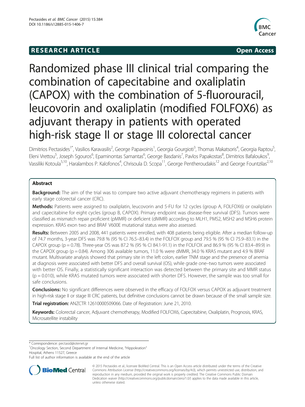 Randomized phase III clinical trial comparing the combination of