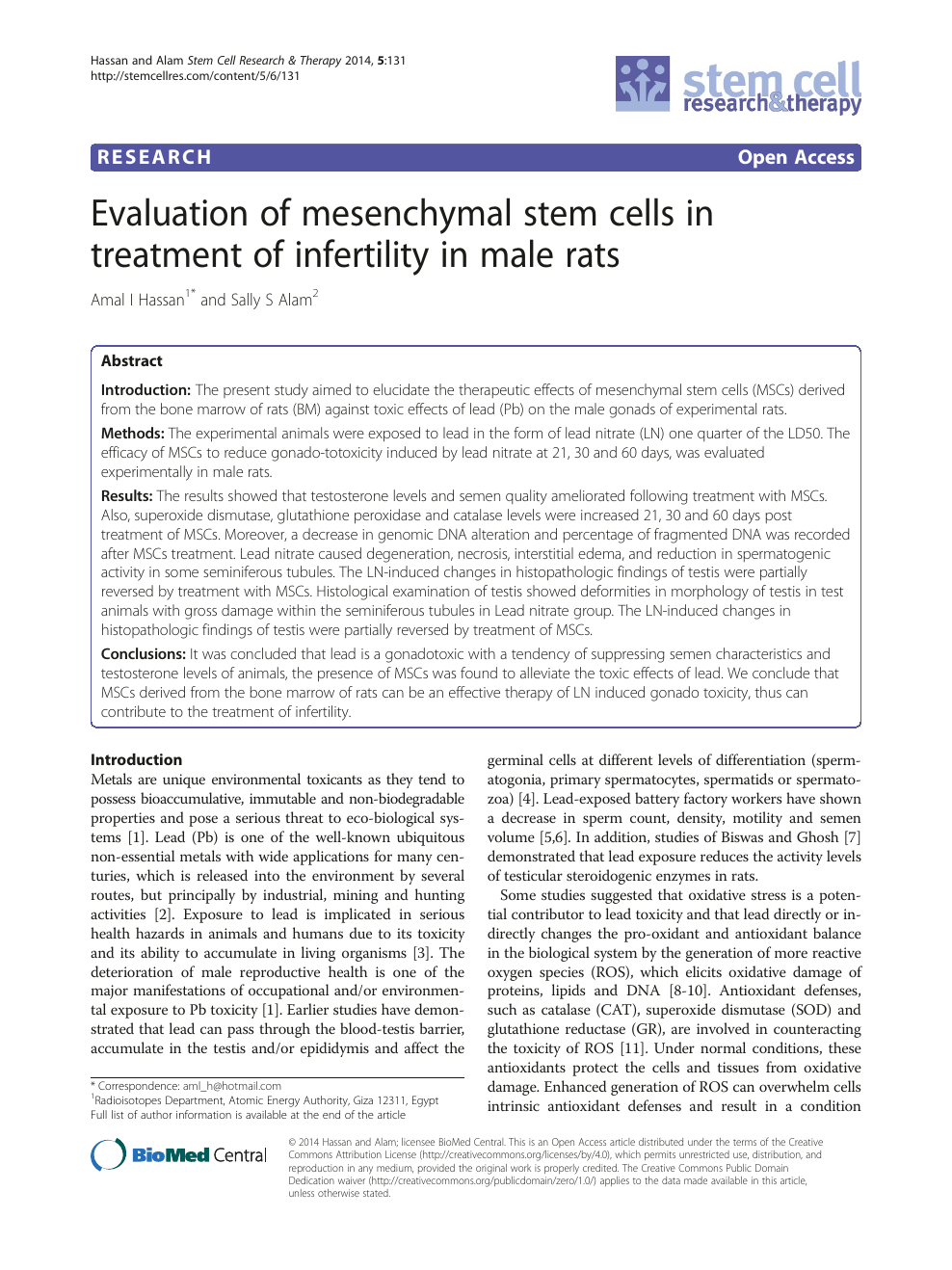Evaluation of mesenchymal stem cells in treatment of infertility in