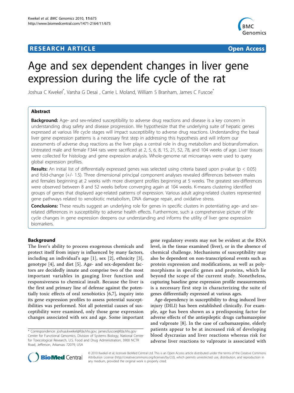 Gene Expression Patterns May Underlie >> Age And Sex Dependent Changes In Liver Gene Expression During The