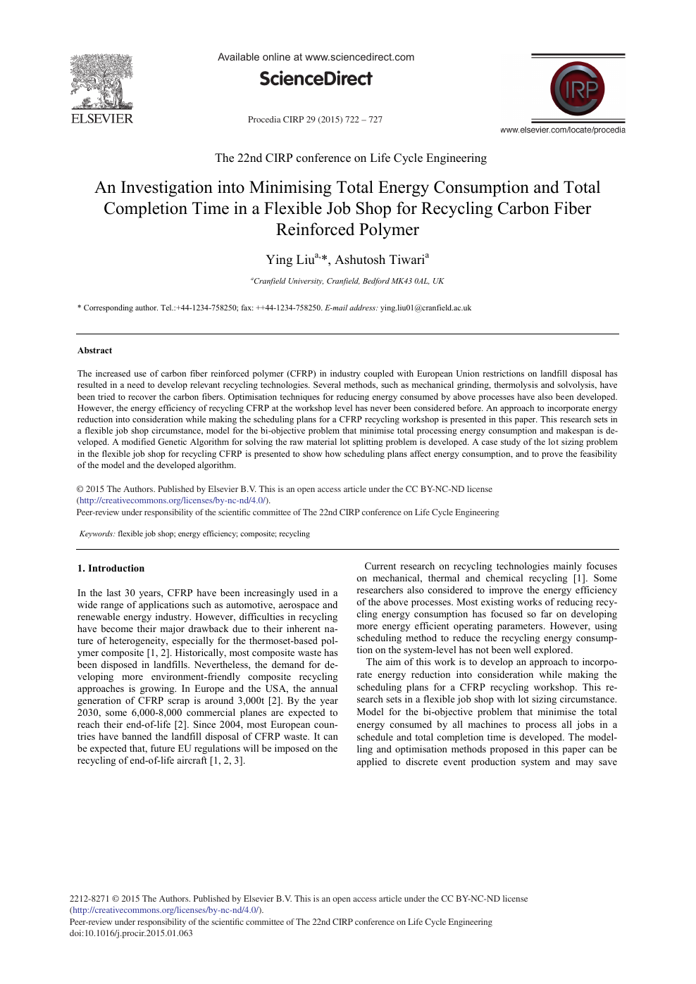 An Investigation into Minimising Total Energy Consumption and Total