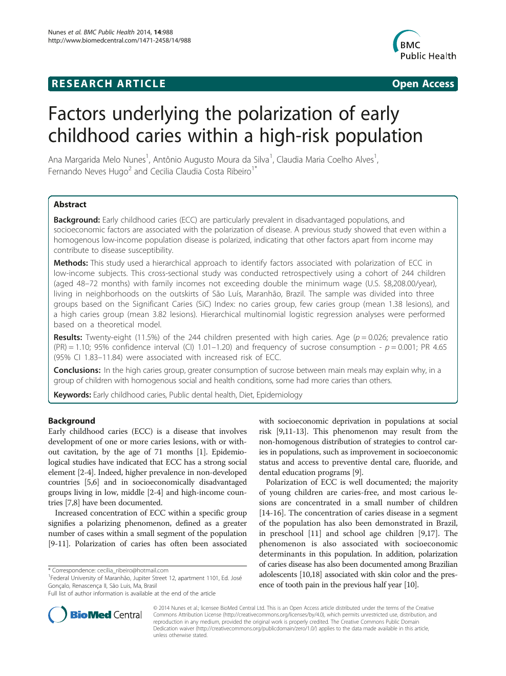Factors underlying the polarization of early childhood