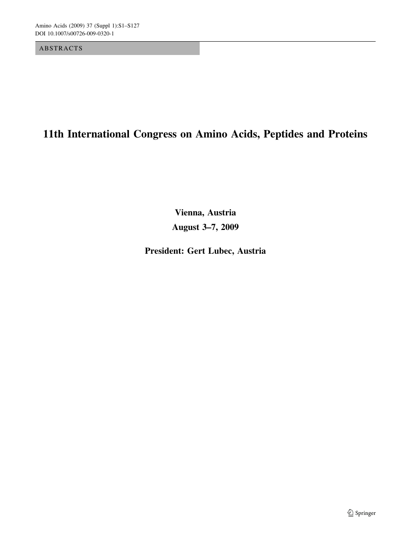 1d3a8287f4ecae 11th International Congress on Amino Acids