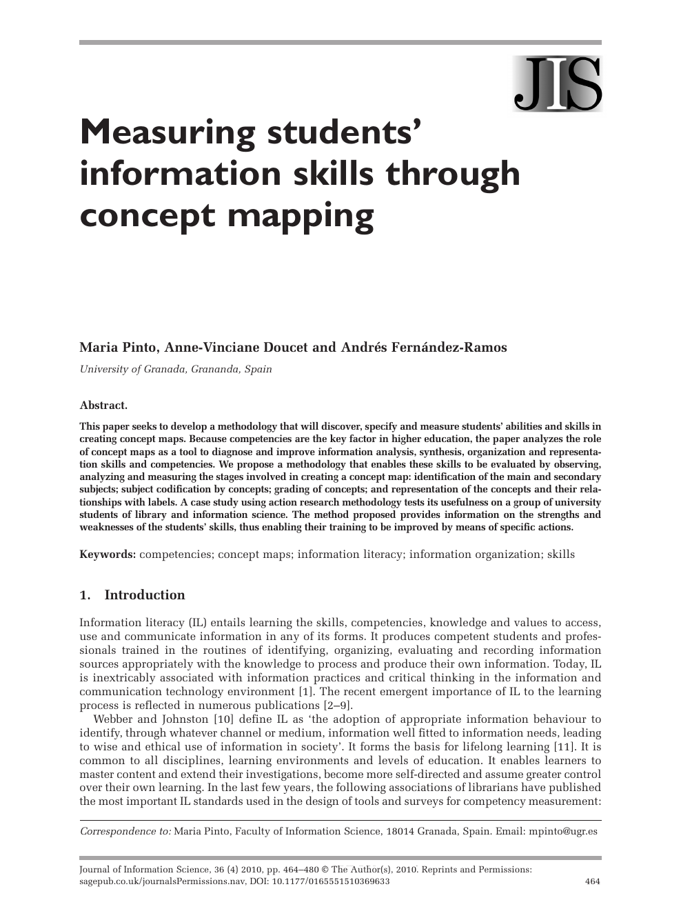 Concept Map Research Paper.Measuring Students Information Skills Through Concept Mapping