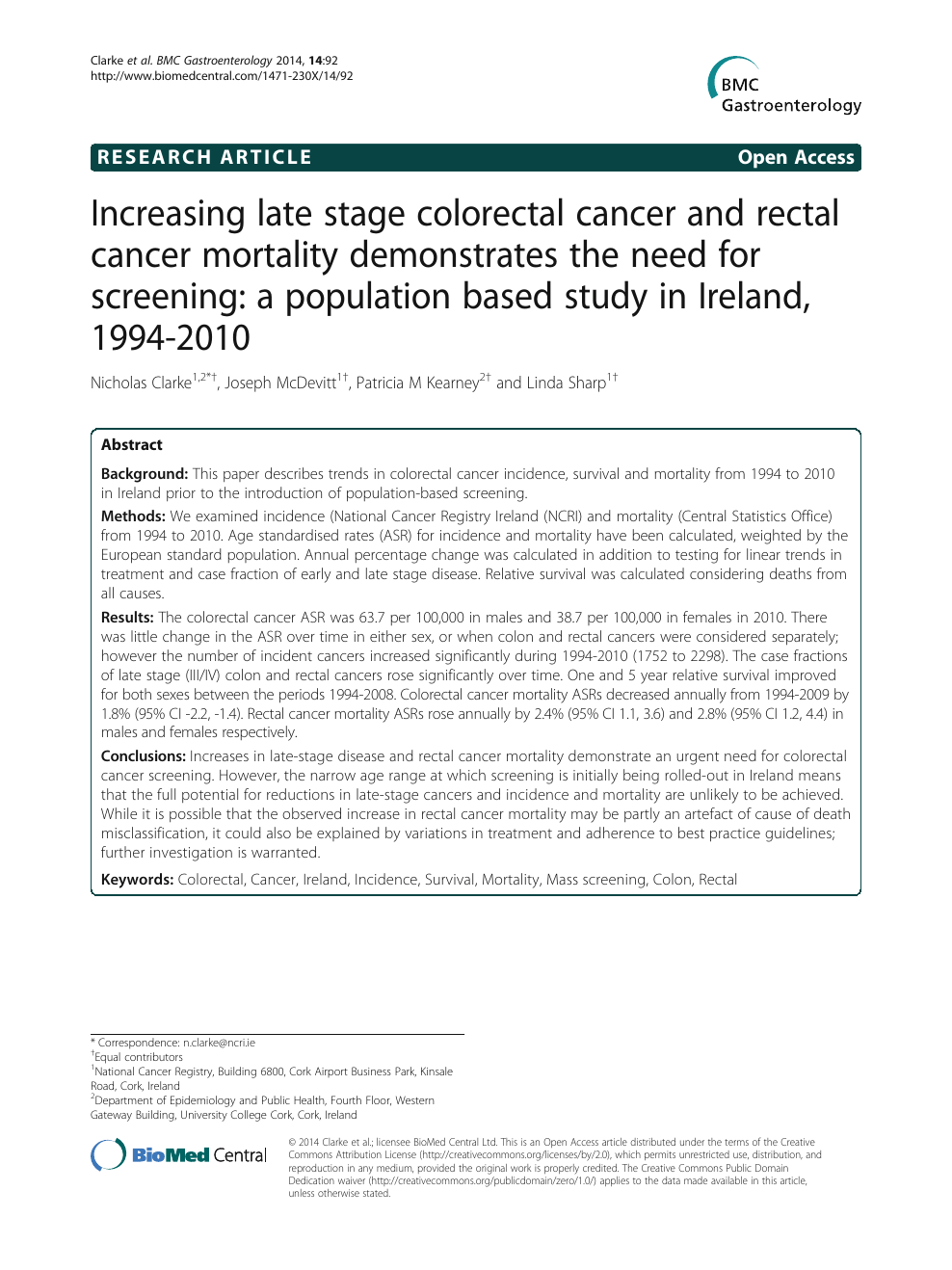 Increasing late stage colorectal cancer and rectal cancer