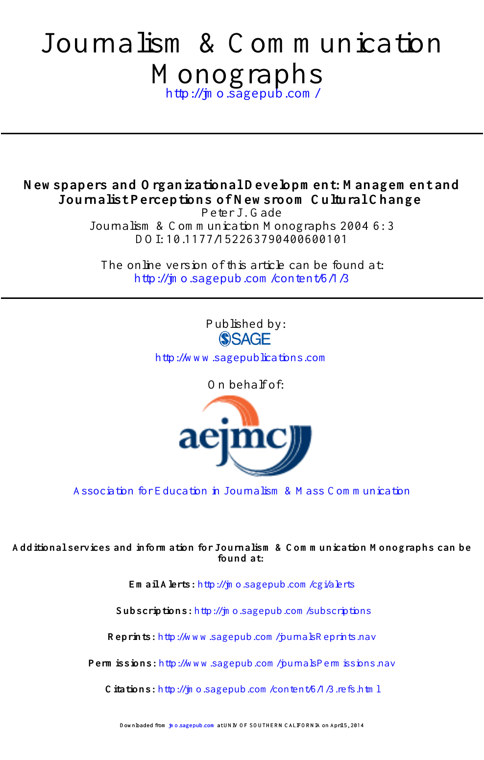 Newspapers and Organizational Development: Management and Journalist