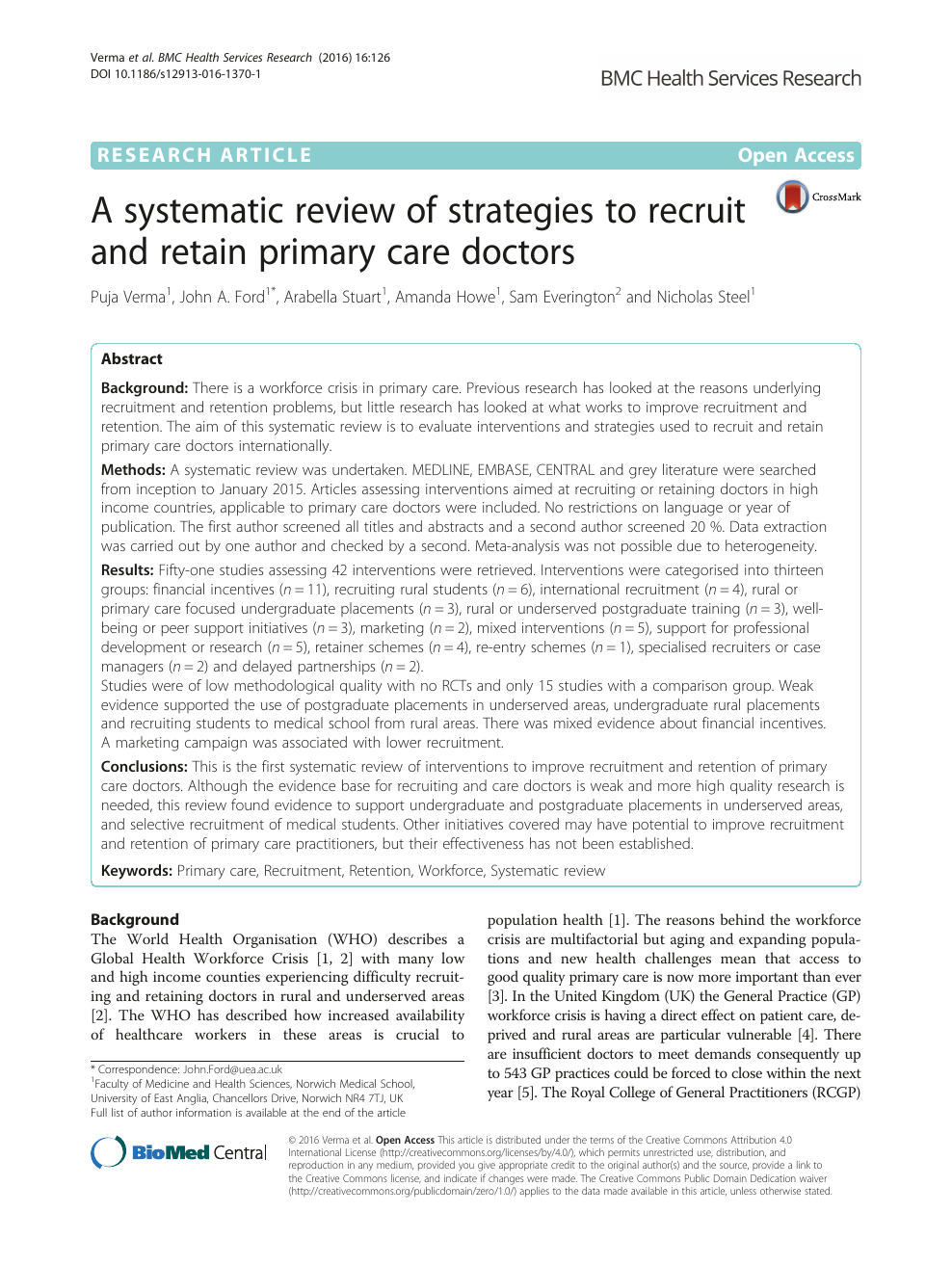 A systematic review of strategies to recruit and retain