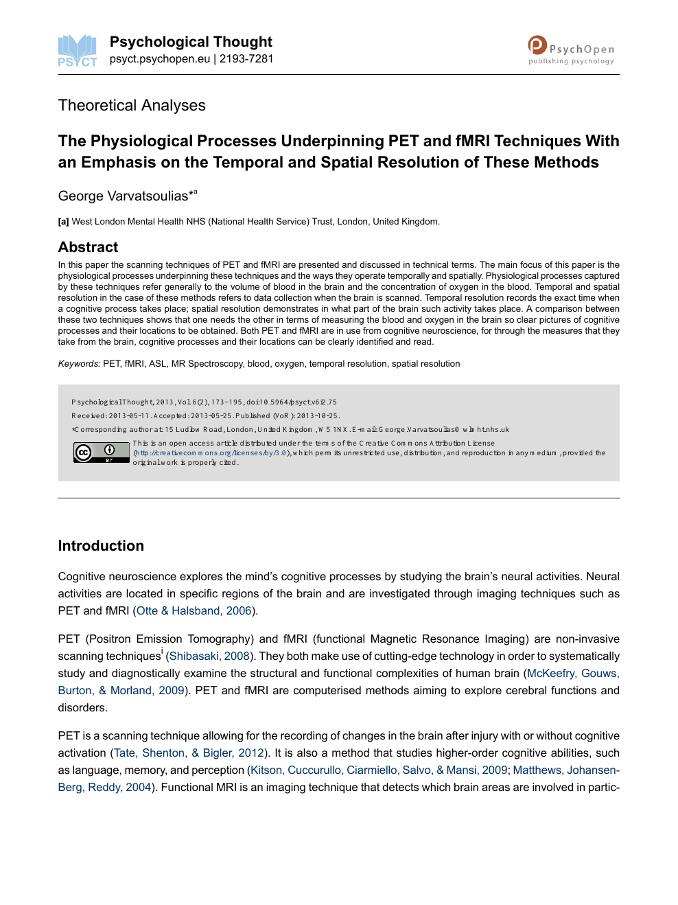 The Physiological Processes Underpinning PET and fMRI