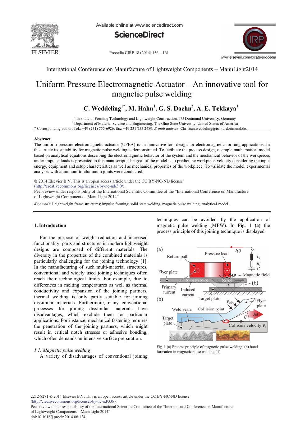 Uniform Pressure Electromagnetic Actuator – An Innovative