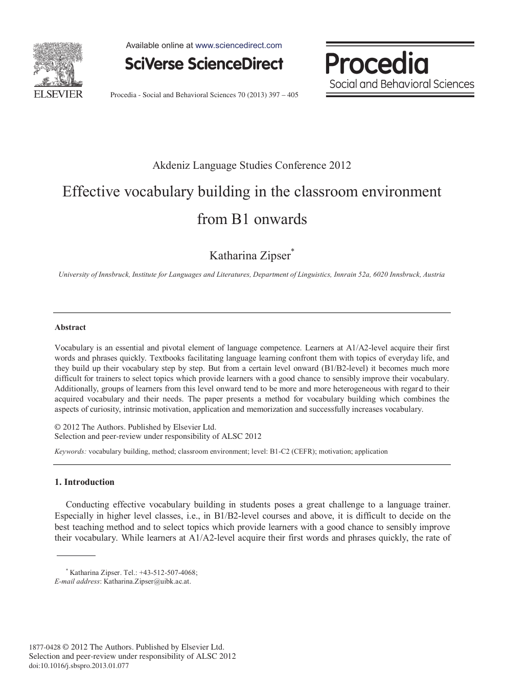 Effective Vocabulary Building in the Classroom Environment