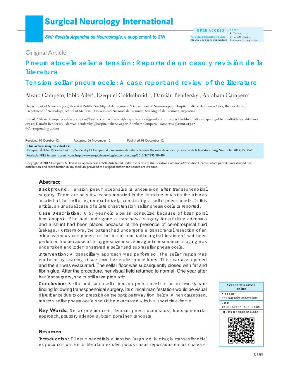 Fisiopatología de la masa supraselar de la hipertensión