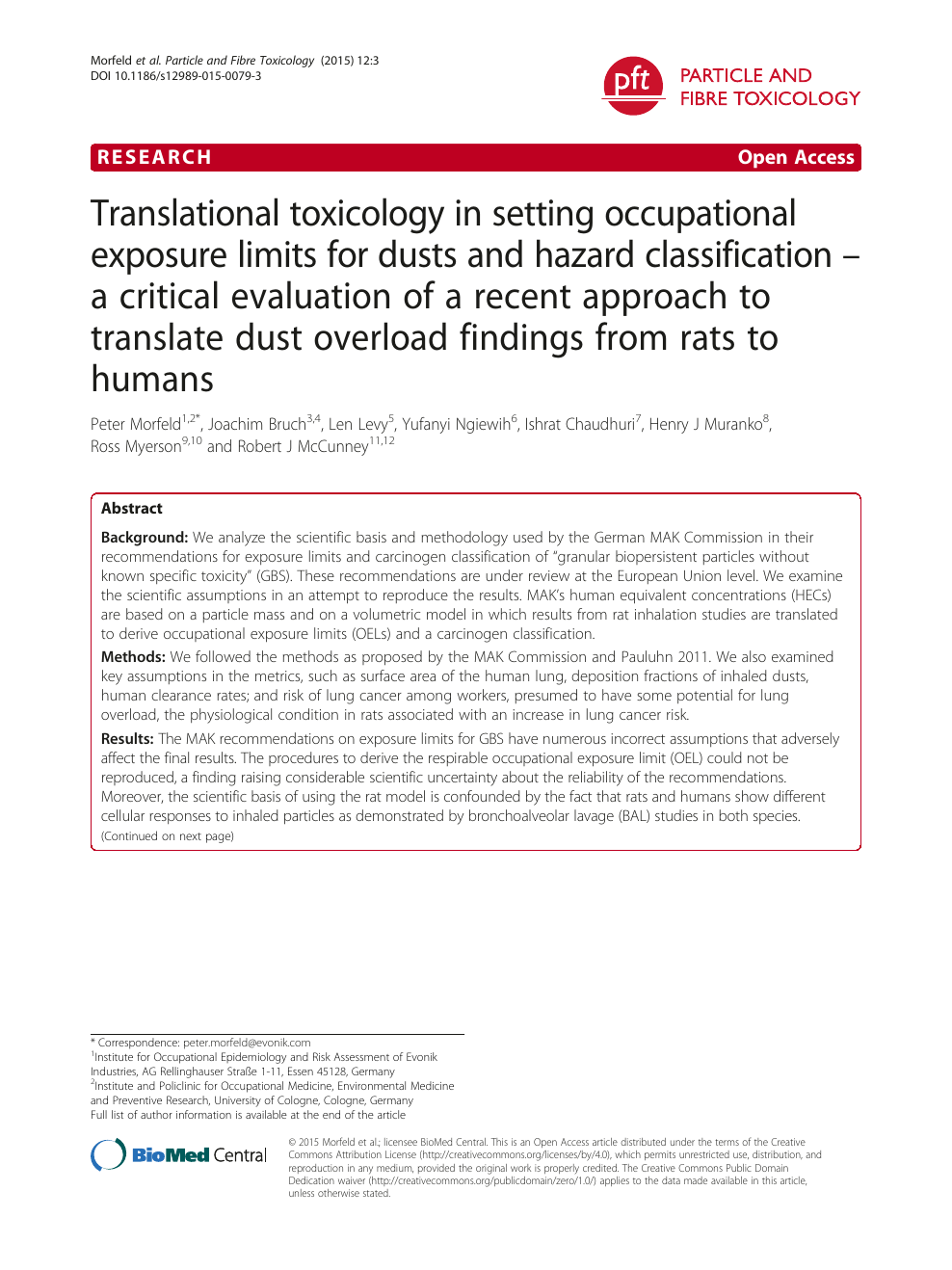 Translational toxicology in setting occupational exposure
