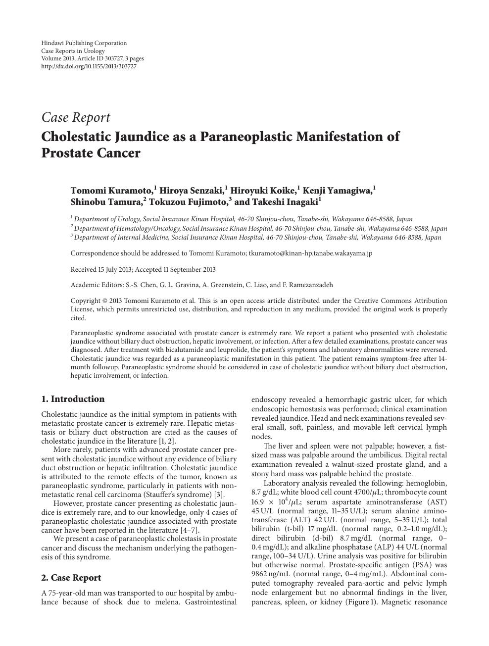 sindrome paraneoplastica prostata