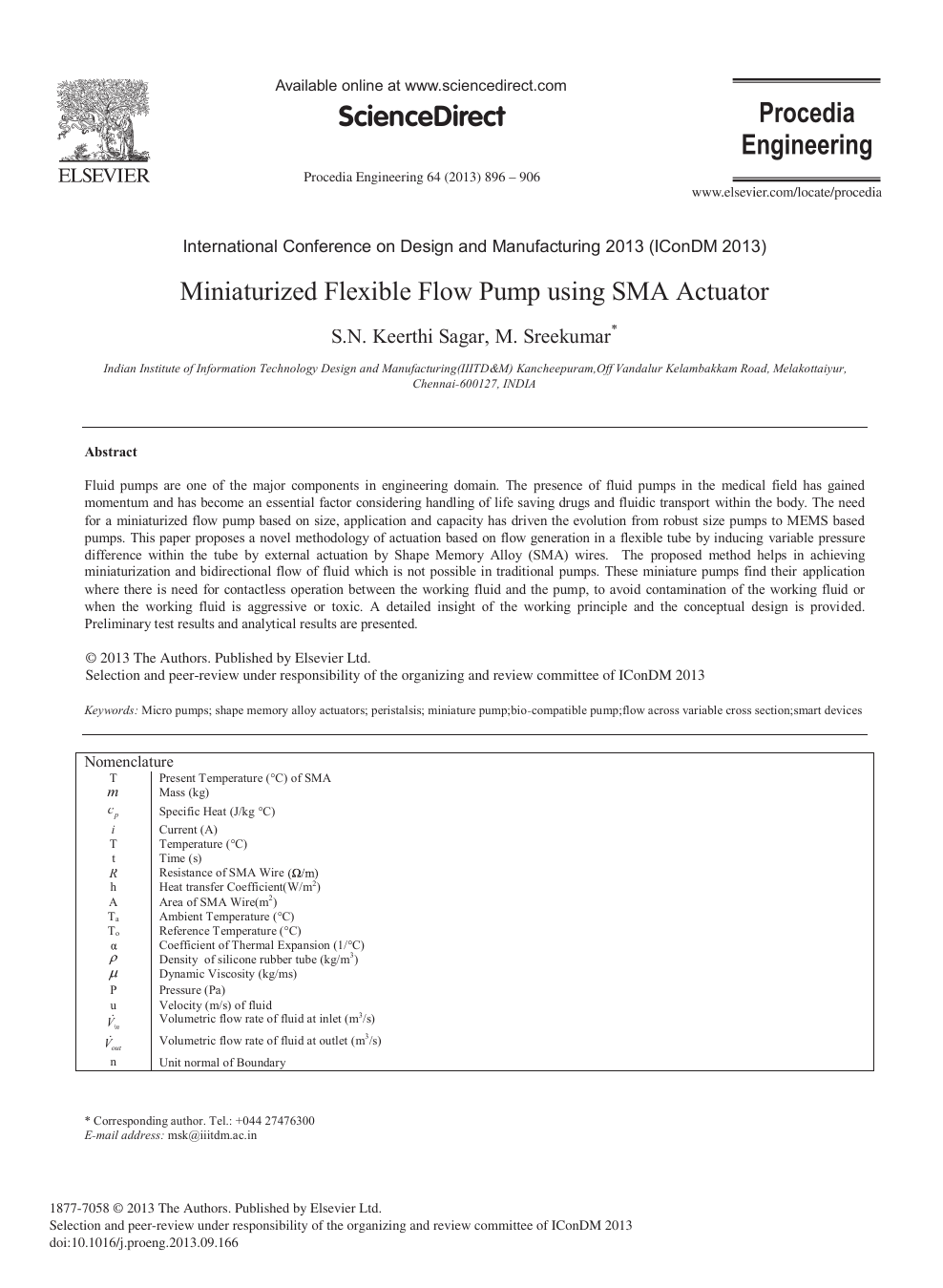 Miniaturized Flexible Flow Pump Using SMA Actuator – topic