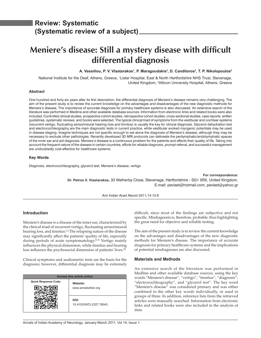 Meniere S Disease Still A Mystery Disease With Difficult Differential Diagnosis Topic Of Research Paper In Clinical Medicine Download Scholarly Article Pdf And Read For Free On Cyberleninka Open Science Hub