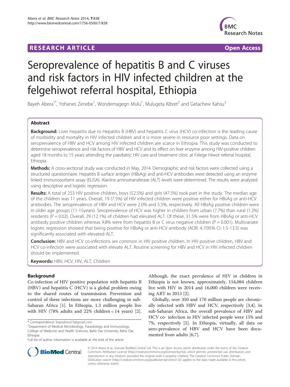Seroprevalence of hepatitis B and C viruses and risk factors