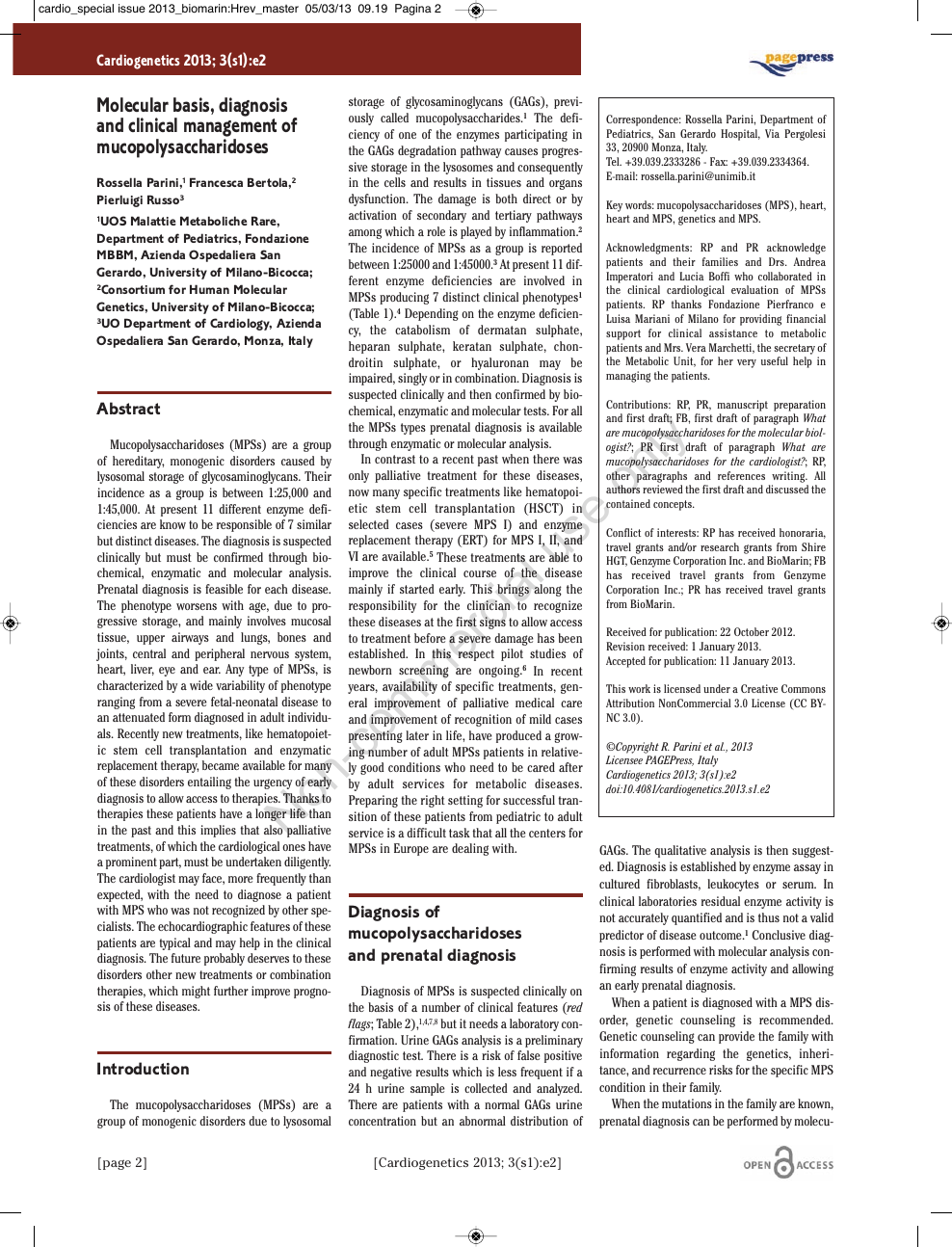 Molecular basis, diagnosis and clinical management of