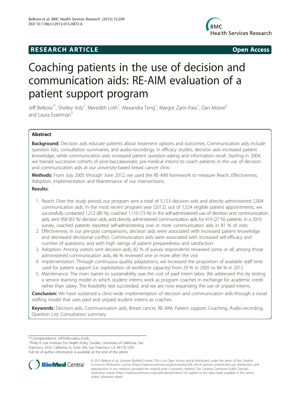 Coaching patients in the use of decision and communication aids: RE