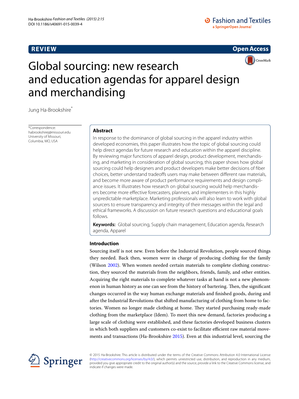 Global Sourcing New Research And Education Agendas For Apparel Design And Merchandising Topic Of Research Paper In Economics And Business Download Scholarly Article Pdf And Read For Free On Cyberleninka Open