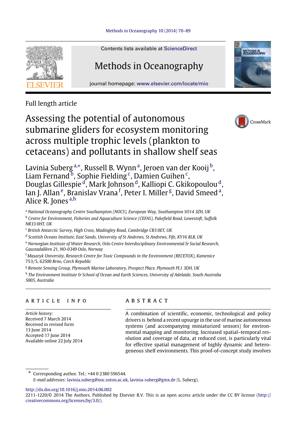 Assessing the potential of autonomous submarine gliders for